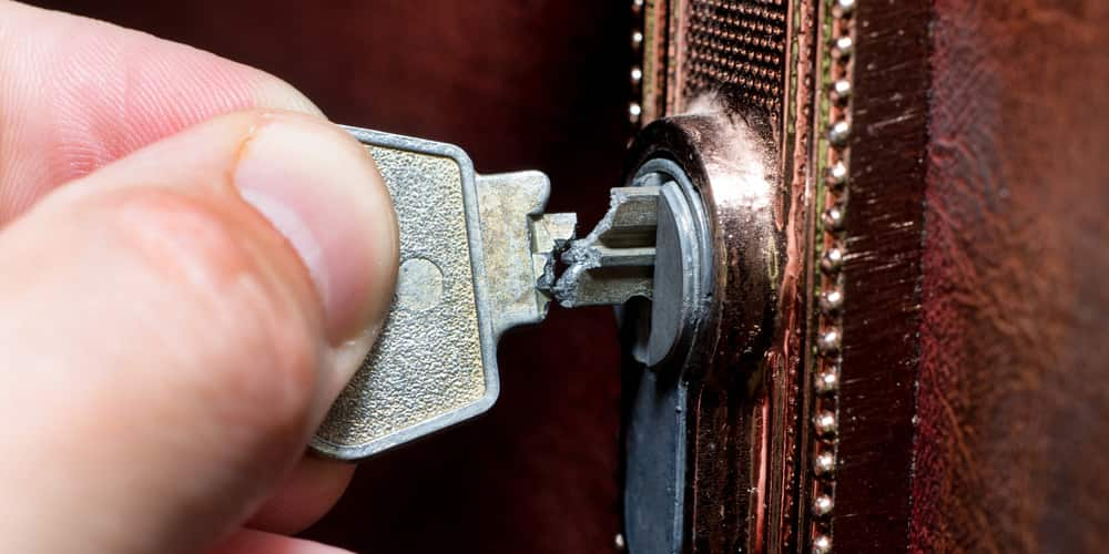 how do i remove a broken key from a lock