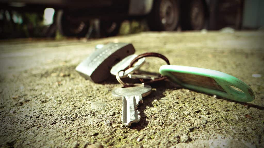 padlock and set of keys