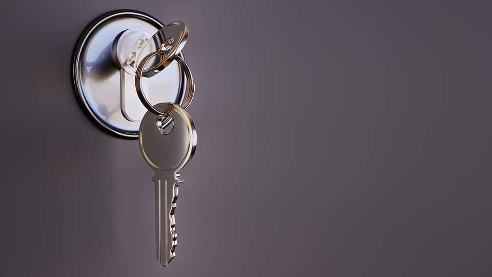 fitted lock and set of keys